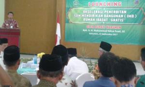 Bupati Kebumen Launching Akselerasi Penerbitan IMB Rumah Ibadah Gratis