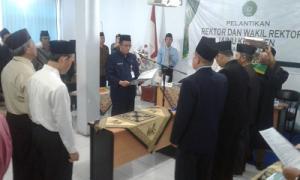 Dr Imam Satibi Kembali Jabat Rektor IANU Kebumen Periode 2019 - 2023