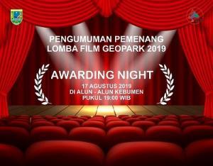 Pengumuman Pemenang Lomba Film Geopark 2019