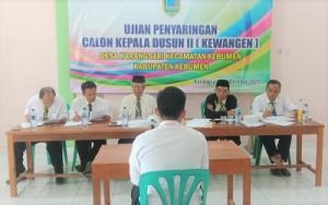 Seleksi Kepala Dusun II / Kewangen Desa Karangsari
