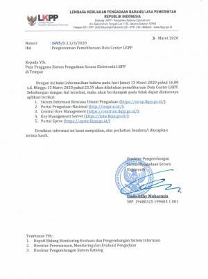 Lembaga Kebijakan Pengadaan Barang/Jasa Pemerintah Republik Indonesia